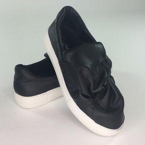 J/Slides Annabelle Sneakers Black Women's Size 9